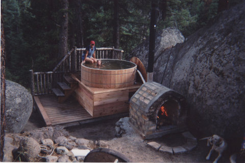 Entry 29 building a woodburning hot tub timber butte for Wood burning spa