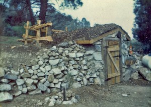 Original hand dug root cellar - 1972
