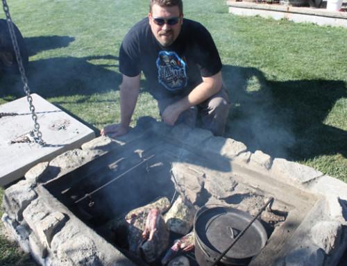 Building a permanent deep-pit BBQ