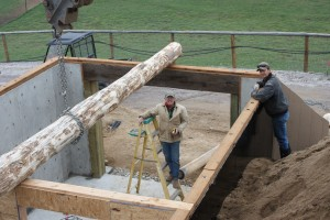 Setting the main beam during construction
