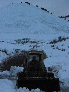 Craig clears our road after the last storm