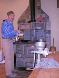 Pat cooks sourdough pancakes